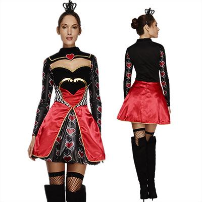 Reina de Corazones Lujoso Vestidos Halloween Cosplay Disfraz Carnaval