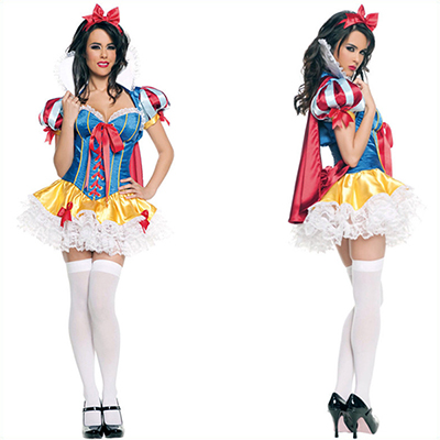 Popular Snow White Dress Halloween Cosplay Costume