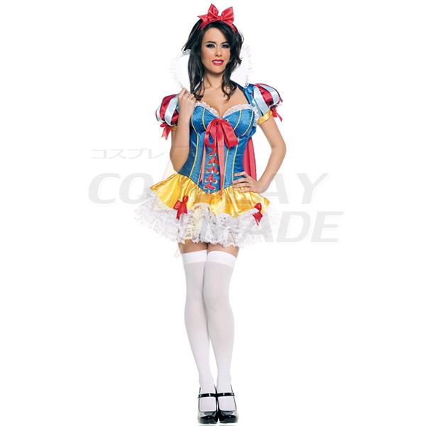 Rang Schneewittchen Kleider Halloween Faschingskostüme Cosplay Kostüme