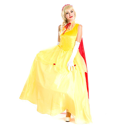 Yellow Fairytale Princess Storybook Halloween Cosplay Costume