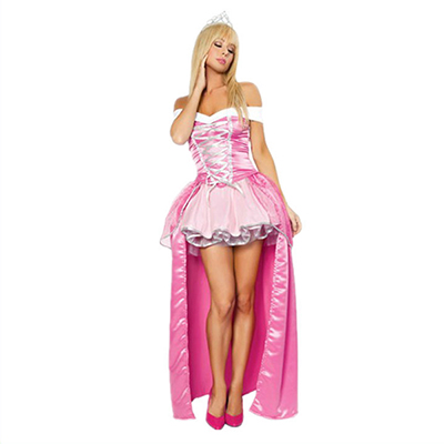 Pink Fairytale Princess Dress Halloween Cosplay Costume