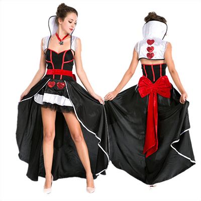 Popular Women Queen Clothes Halloween Cosplay Dress