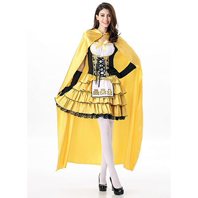 Fairy Tale Costume Halloween Cosplay Princess Dress Yellow