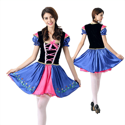 Fairy Tale Costume Halloween Cosplay Princess Dress Blue