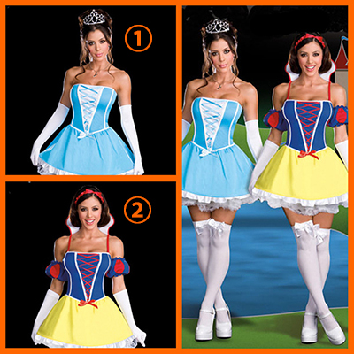 Sexy Princess/Queen Dresses Halloween Cosplay Costumes