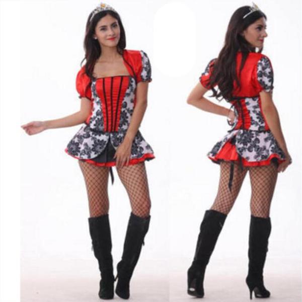Sexet Kardinal Den lille Rødhætte Halloween Cosplay Kostume Fastelavn