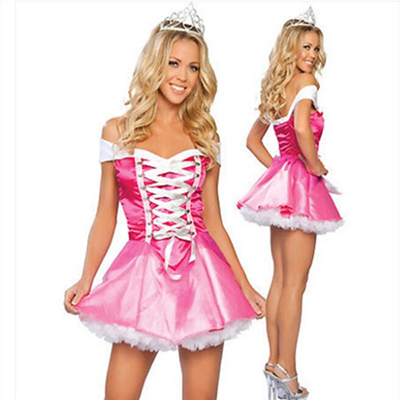 Adult Sexy Sleeping Beauty Red Dress Halloween Cosplay Costume