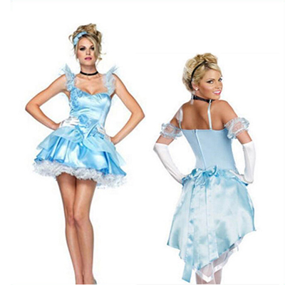Adult Sexy Sleeping Beauty Blue Dress Halloween Cosplay Costume