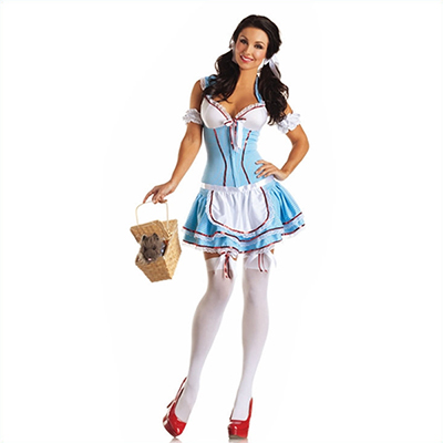 Adult Classic Alice in Wonderland Maid Short Dress Halloween Cosplay Costume