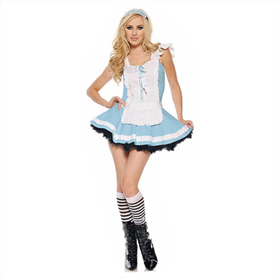 Pretty Alice in Wonderland Womens Halloween Cosplay Costume