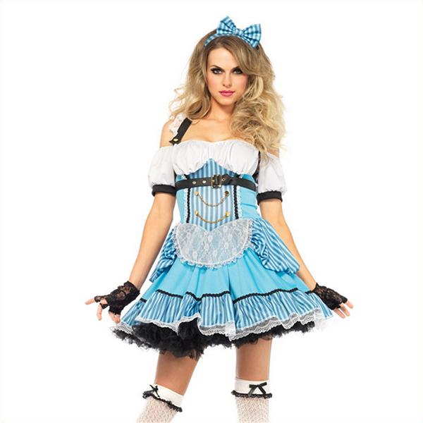 Deluxe Alice im Wunderland Damen Halloween Faschingskostüme Cosplay Kostüme