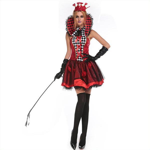 Populære Spilkort Sort Kjoler Halloween Cosplay Kostume Fastelavn