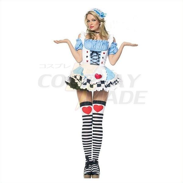 Populære Temmelig Alice i Eventyrland Damer Kjoler Dame Halloween Kostume