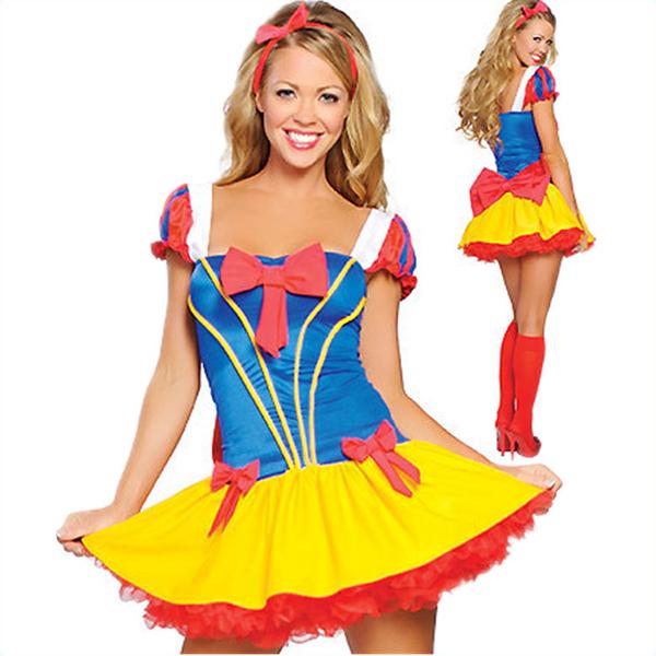 Damen Sexy Schneewittchen Kleider Halloween Kostüme