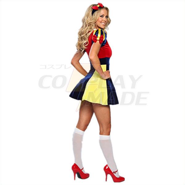 Dame Fancy Kjole Cosplay Halloween Kostume Fastelavn