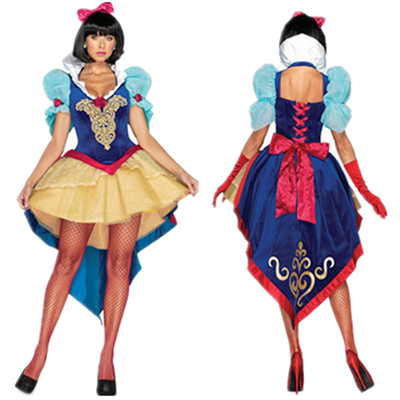 Adult Deluxe Snow White Halloween Cosplay Costume
