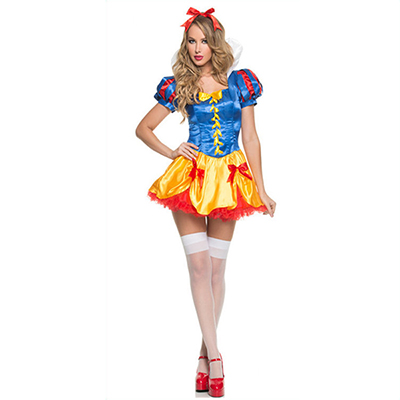 Adult Sexy Snow White Halloween Costume Including Sock