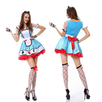 Light Blue Alice In Wonderland Storybook Costume Halloween