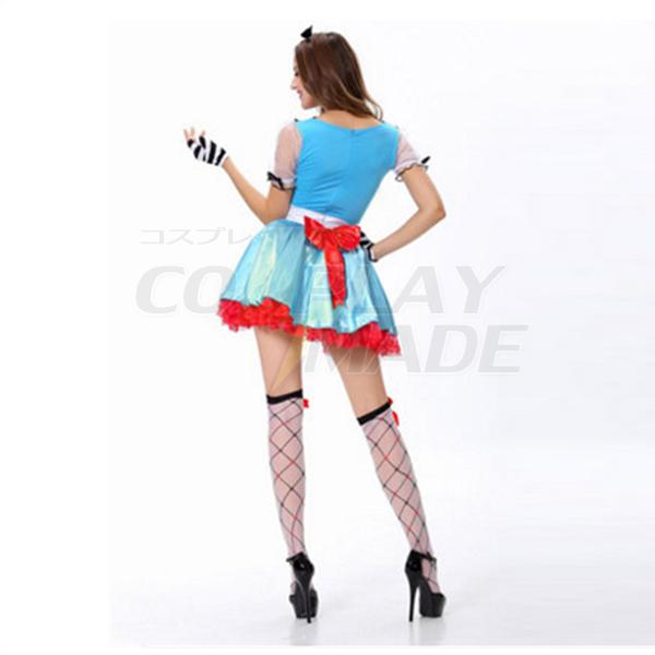 Light Blue Alice In Wonderland Storybook Costume Halloween