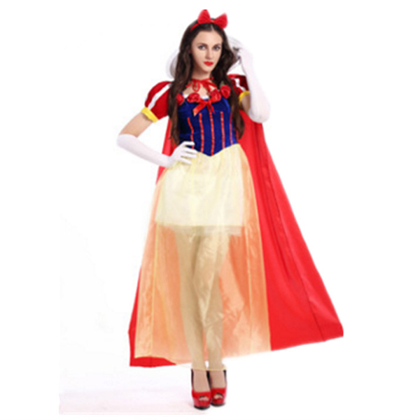 Eventyr Snehvide Halloween Kostume Inlcuding Cloak Fastelavn