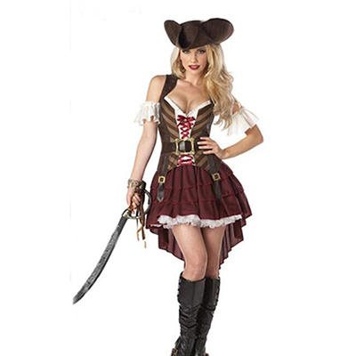 Capitaine de Pirate Swashbuckler Halloween Costume Carnaval