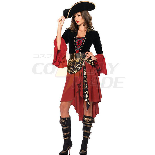 Cruel Seas Captain Voksen Halloween Kostume Fastelavn