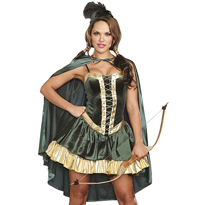Womens Robin Hood Costume Halloween Cosplay