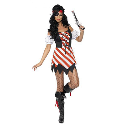 Fever Piraat Mooie Jurk Kostuum Dames Piraats Cosplay Halloween