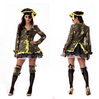 Womens Pirate Lady Costume Cosplay Halloween