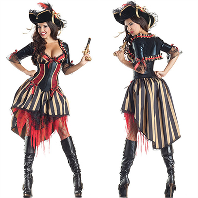 Erwachsene Pirates Of The Caribbean Damen Kleider Kostüme Halloween