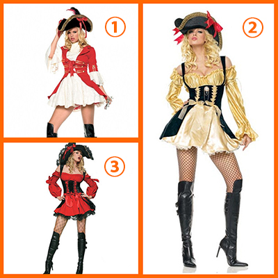 Sexy Pirate Costume For Women Halloween Cosplay