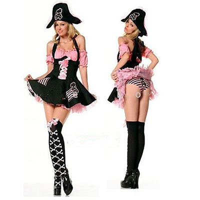 Sexy Pink Pirate Costume Halloween Cosplay