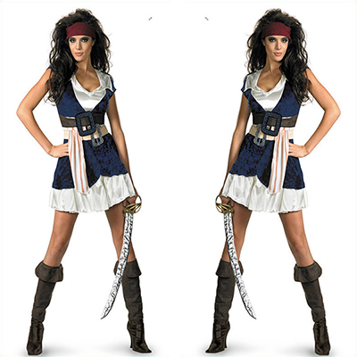 Women Sassy Jack Sparrow Costume Halloween Cosplay