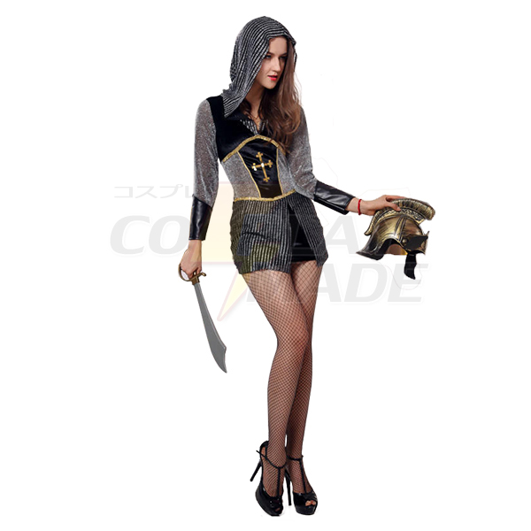 Ladies Knight Costume Cosplay Halloween Outfit