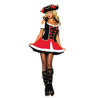 Captain Hook Dress for Women Pirate Costume Halloween Cosplay