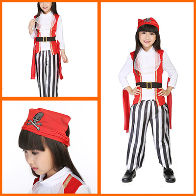 Kids Little Red Riding Hood Princess Dress Halloween Costume Cosplay