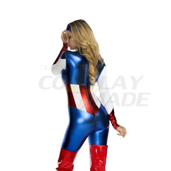 Sexy Superhero Girl Bodysuit Costume Halloween Cosplay