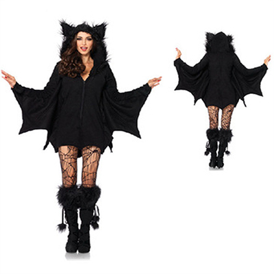 Leg Avenue Womens Cozy Bat Costume Halloween Cosplay