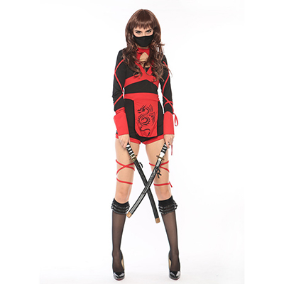 Female Ninja Costume Hallloween Cosplay