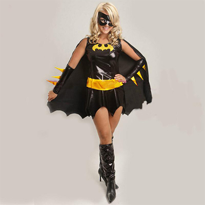 Black Chic Batman Halloween Superhero Costume For Womens Cosplay