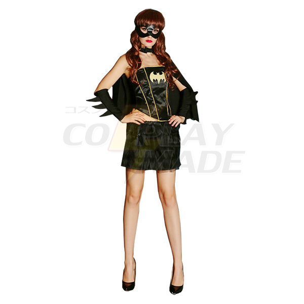Sexet Batman Halloween Superhero Kostume til Dame Cosplay