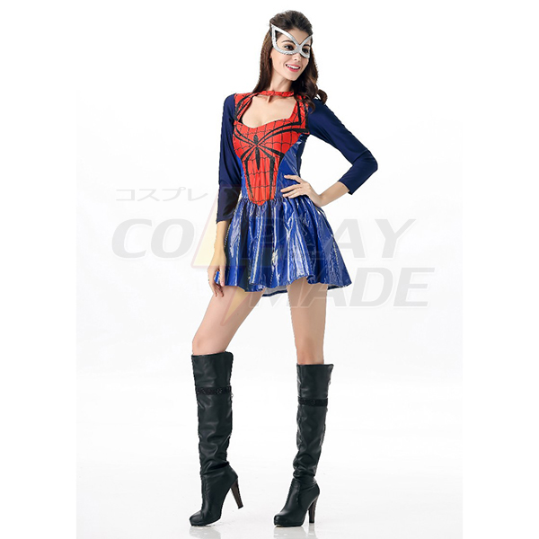 Halloween SuperDamen Spider-Damen Kostüme Cosplay Kostüme