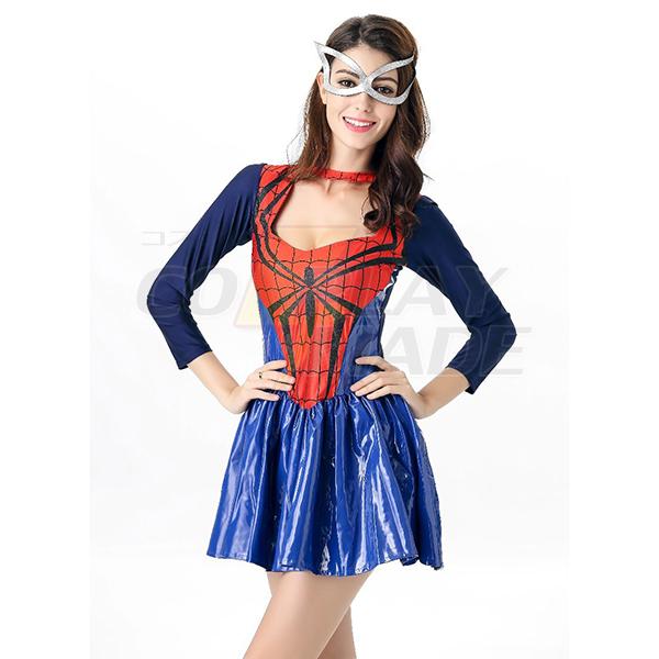Halloween Superwomen Spider-Women Costume Cosplay