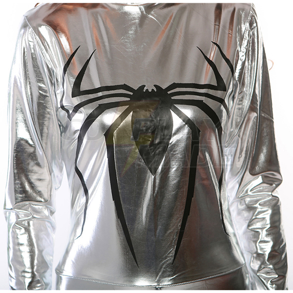 Sexy Superhero Silver Bodysuit Halloween Costume Cosplay