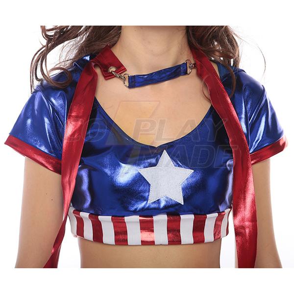 Sexet Dame Avengers Captain America Kostume Halloween Cosplay