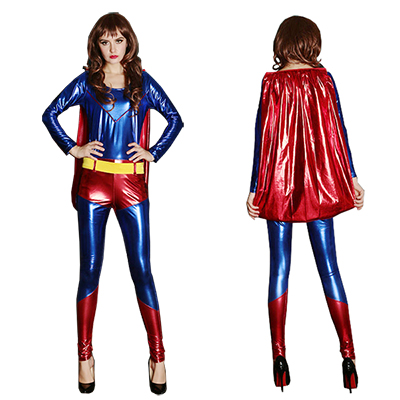 Womens Superman Cosplay Costume Halloween