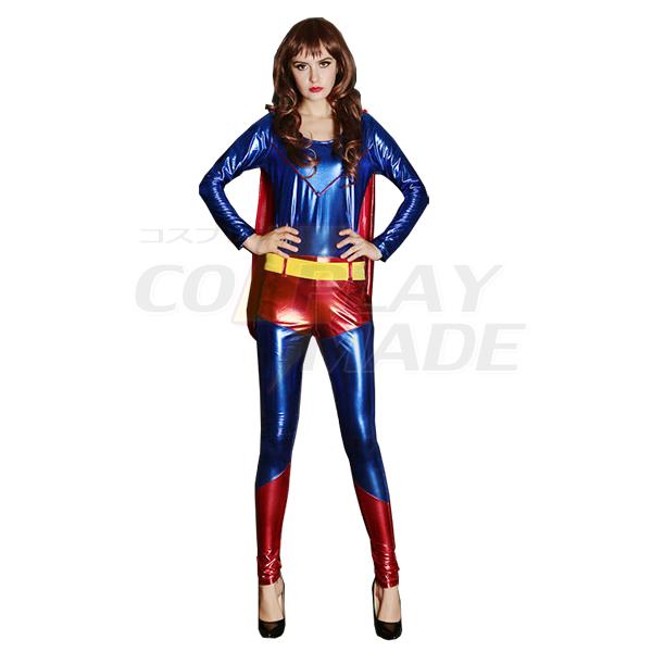 Womens Superman Cosplay Costume Halloween