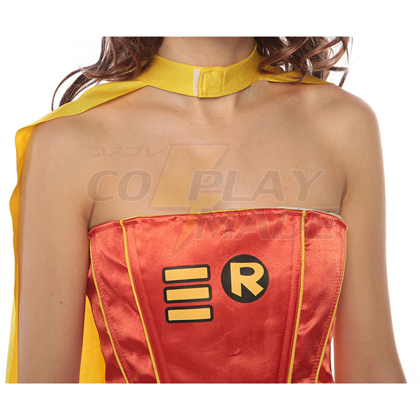 Sexet Superman Kostume til Dame Kjoler Halloween Cosplay Gul