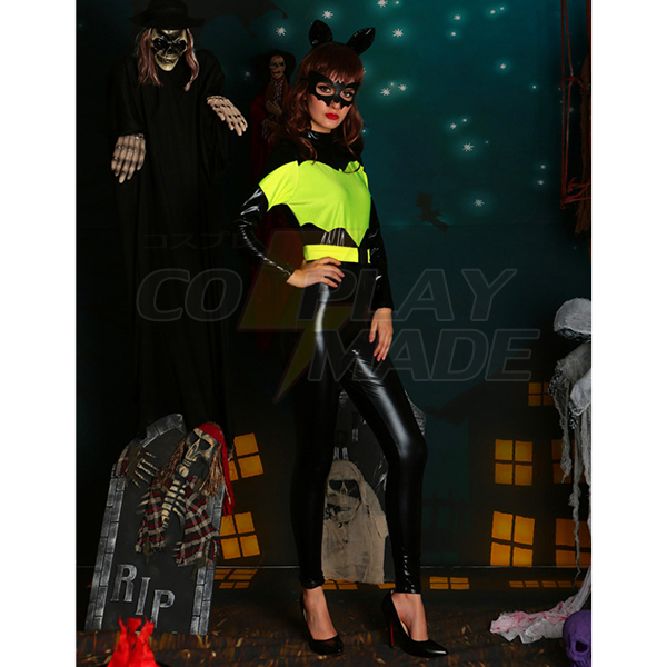 Dame Sort Spiderman Halloween Kostume Cosplay Fastelavn