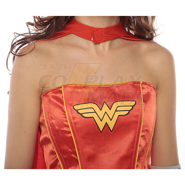 Sexy Superman Costume For Women Dress Halloween Cosplay Red
